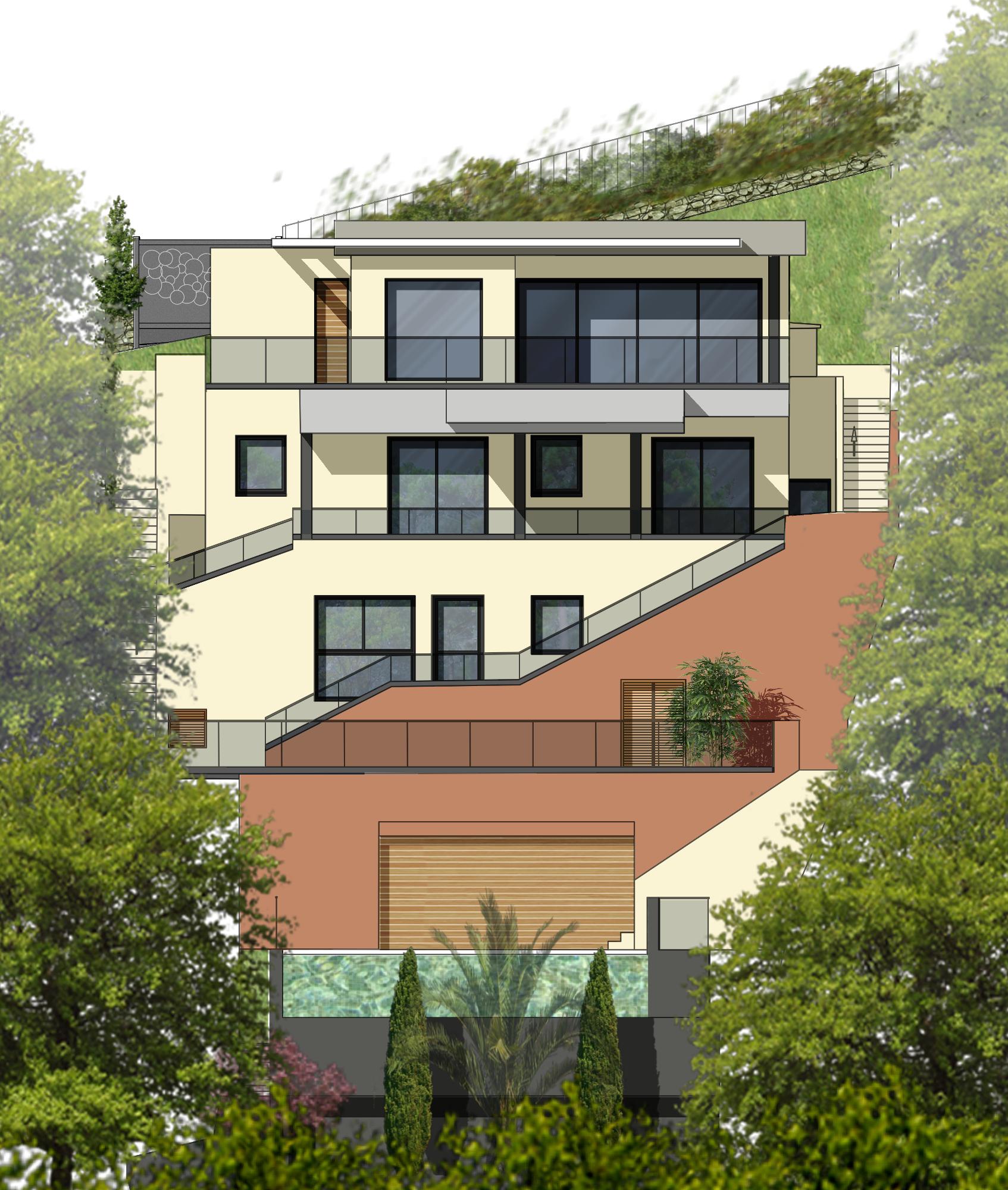 Façade de villa, projet de rénovation par SVL architecture