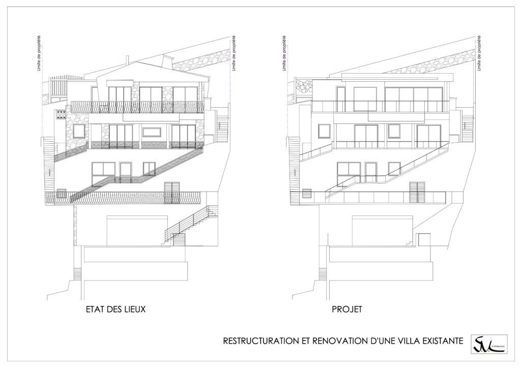 Plan de rénovation de villa par SVLa